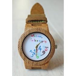 Drewniany zegarek CHAOS EAGLE OWL