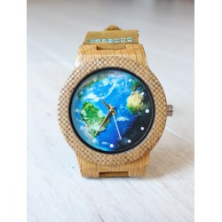 Wooden watch WORLD EAGLE OWL