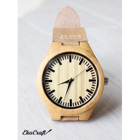 Drewniany zegarek BAMBOO NATURAL