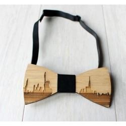 Drewniana muszka Nowy Jork- Urban Style