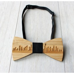 Drewniana muszka Chicago - Urban Style