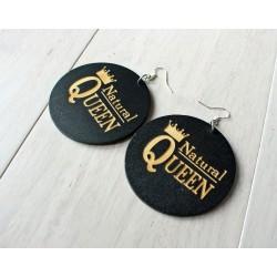Long wooden earrings NATURAL QUEEN