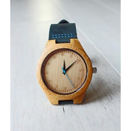 Drewniany zegarek BLUE TIT