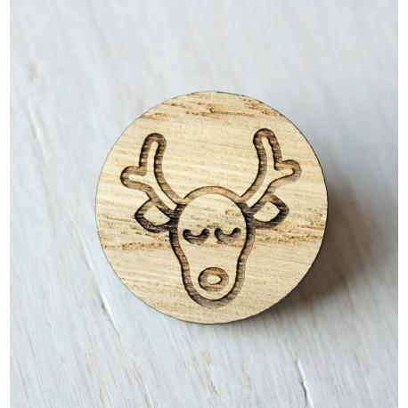 Wooden pin  REINDEER