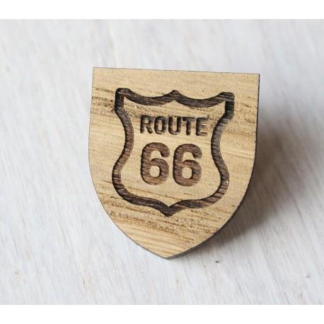 Drewniana wpinka Route 66