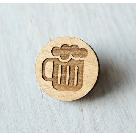 Wooden pin BEER