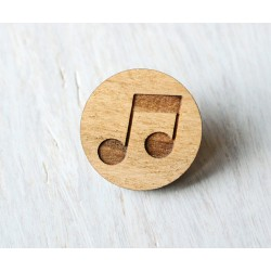 Wooden pin MUSIC NOTES