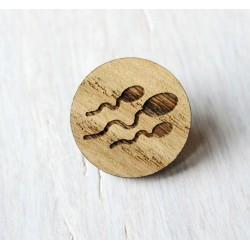 Drewniana wpinka bardzo meskie