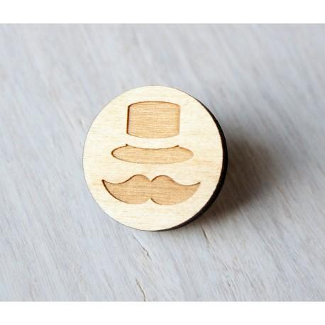 Wooden pin GENTLEMAN
