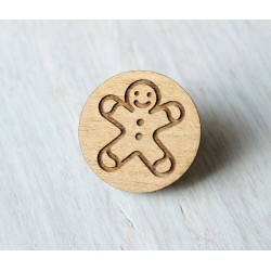 Wooden pin Gingerbread man