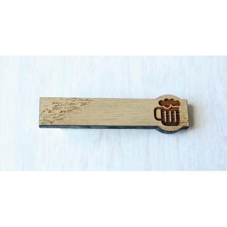 Oak Tie Clip BEER