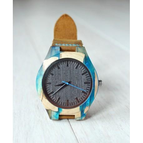 Drewniany zegarek RESIN No.1- limitowany
