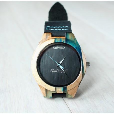 Drewniany zegarek RESIN No.2- limitowany