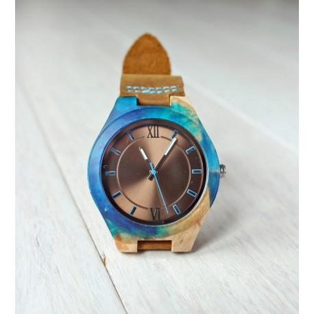 Drewniany zegarek RESIN No.3 - limitowany