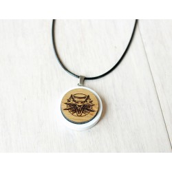 Natural wooden necklace WITCHER