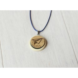 Natural wooden necklace PLANE