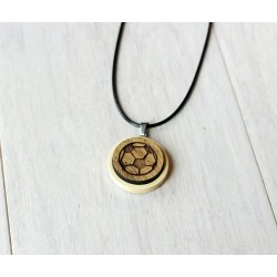 Natural wooden necklace BALL