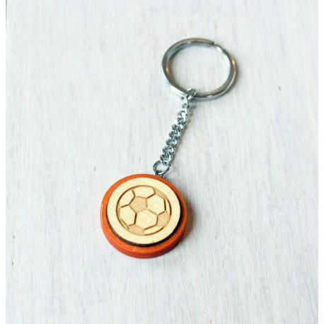 Natural wooden keychain BALL