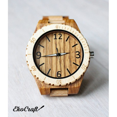 Drewniany zegarek FULL WOOD