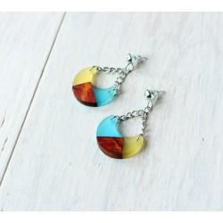 Wooden resin earrings BANANAS