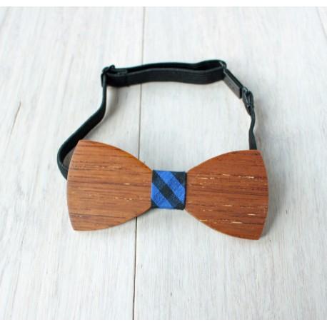 Drewniana muszka dla taty kratka