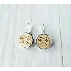 Wooden earrings GAMER