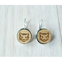 Wooden earrings CAT