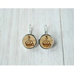 Wooden earrings COFFEE