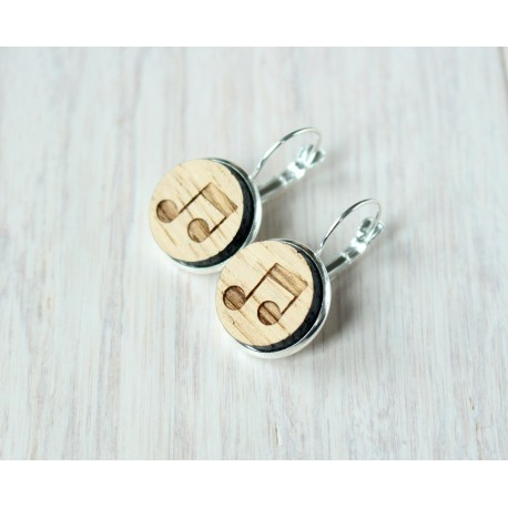 Wooden earrings BEER