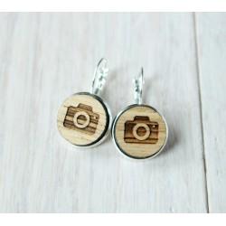 Wooden earrings MUSIC NOTE
