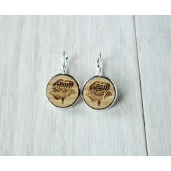 Wooden earrings CAMERA