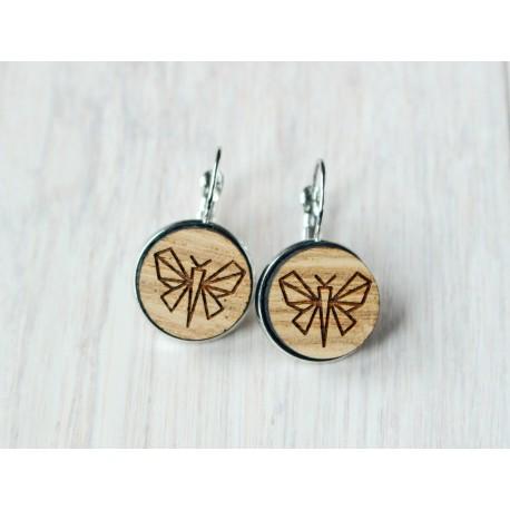 Wooden earrings BUTTERFLY