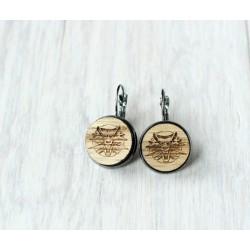 Wooden earrings ARROW