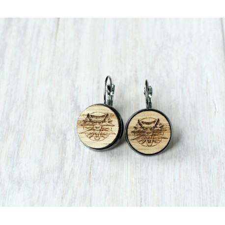 Wooden earrings ARROW
