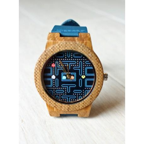 Drewniany zegarek PACMAN HAWK