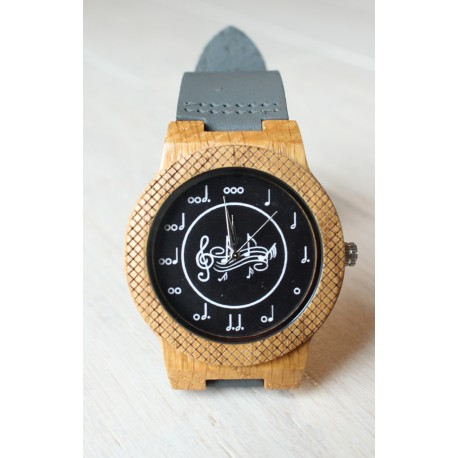Wooden watch MUSIC EAGLE OWL