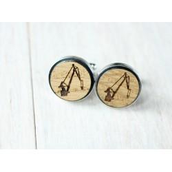 Fiat wooden cufflinks