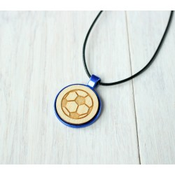 Natural wooden necklace with steel base POTION
