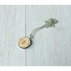 Natural wooden necklace BEE