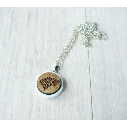 Natural wooden necklace STARK