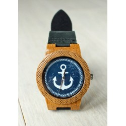 Wooden watch ANCHOR