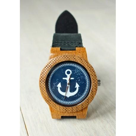 Wooden watch ANCHOR