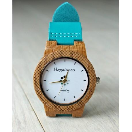 Drewniany zegarek HAPPINESS