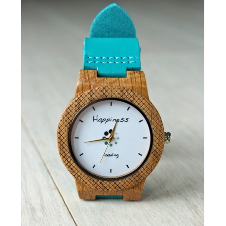 Wooden watch HAPINESS