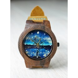 Wooden watch LAKE NIGHT