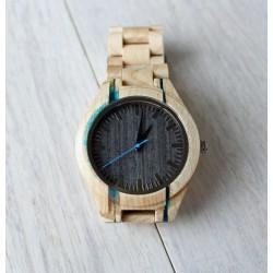 UNIKAT Drewniany zegarek z żywicą