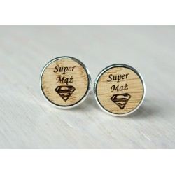 Husband wooden cufflinks