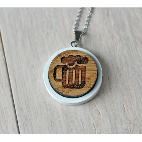 Natural wooden necklace PITCHER
