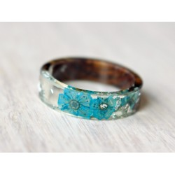 Wood and resin FLOWER RING