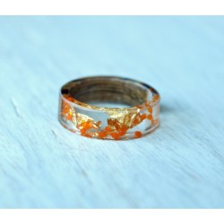 Wood and resin ring AUTUMN VINES